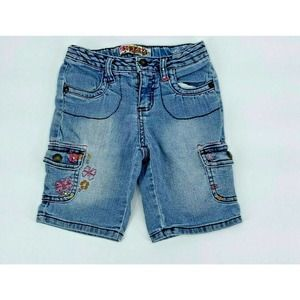Squeeze Girl Jean Shorts Embroidered Sz6
